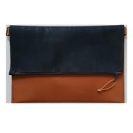 cuir brun / liège bleu jean